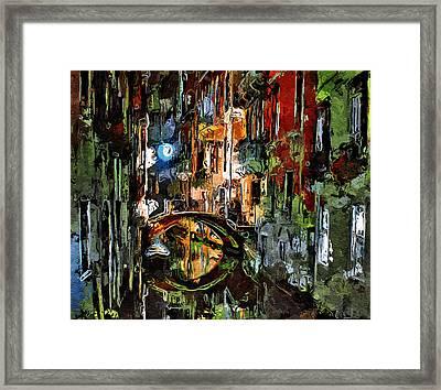 Enjoyable Venice Night Framed Print by Yury Malkov