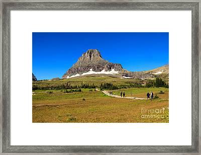 Enjoying Logan Pass Summit Framed Print by Robert Bales
