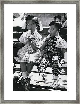 Enjoying Some Ice-cream Framed Print by Retro Images Archive