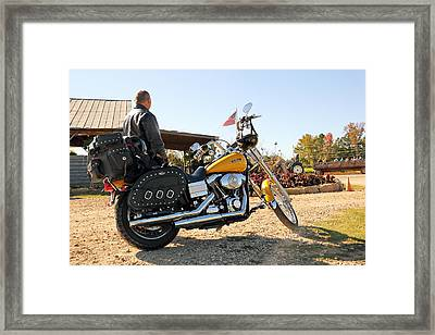 Enjoying The American Ride  Framed Print