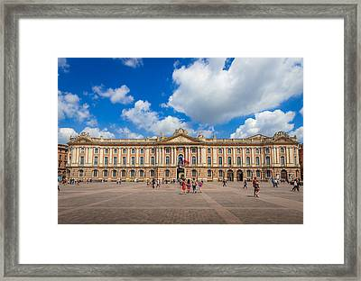 Enjoying The Capitole De Toulouse  Framed Print