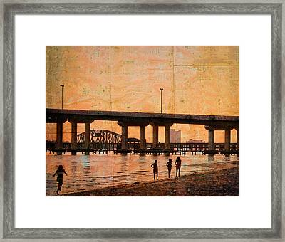 Enjoying The Coast Framed Print