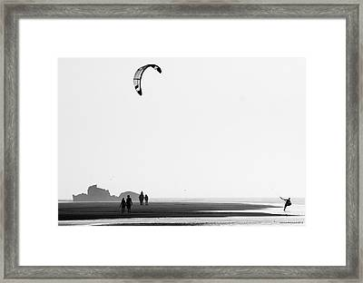 Enjoying The Day Framed Print by Martina  Rathgens