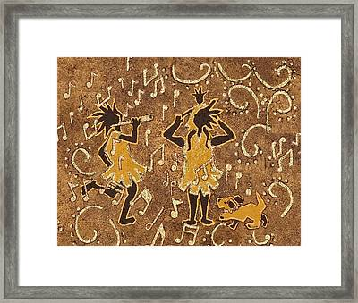 Enjoying The Music Framed Print by Katherine Young-Beck