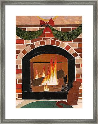 Enjoying The Warmth Framed Print