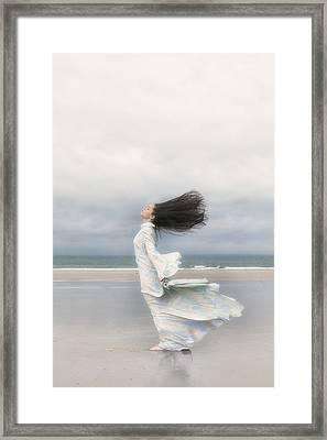 Enjoying The Wind Framed Print by Joana Kruse