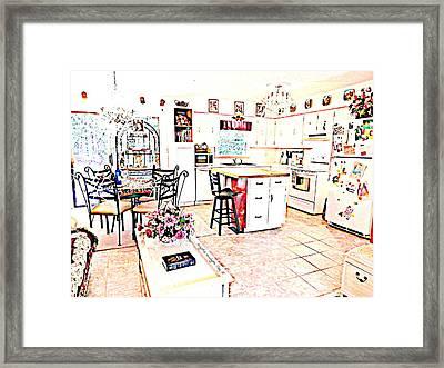 Enjoyment At Home Framed Print