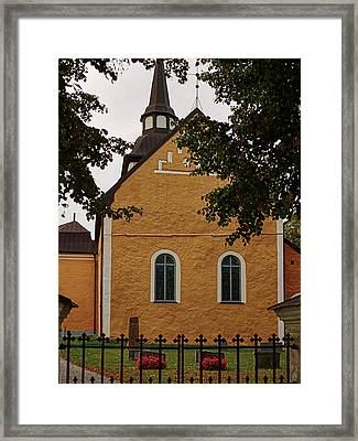 enkoepingsnaes church from east Db Framed Print