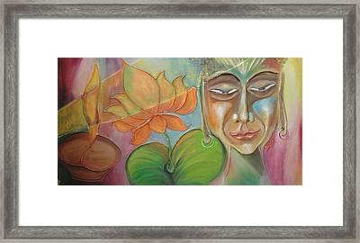 Enlightend Fragrance Framed Print by Rajesh Chopra