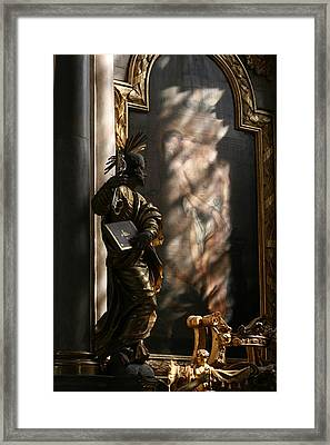 Framed Print featuring the sculpture Enlightend by Steve Godleski