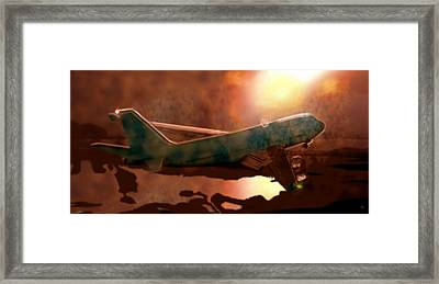 Enlightened During Landing  Framed Print by Marcello Cicchini