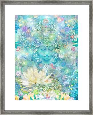 Enlightened Forest Heart 3 Framed Print