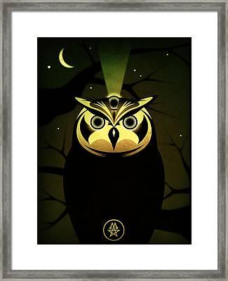 Enlightened Owl Framed Print by Milton Thompson