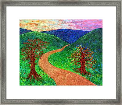 Enlightened Path - Dawn Framed Print by Julie Turner
