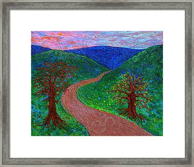 Enlightened Path - Dusk Framed Print by Julie Turner