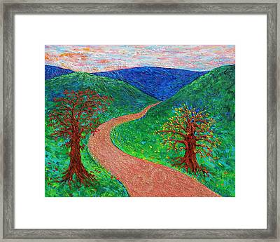 Enlightened Path Framed Print by Julie Turner