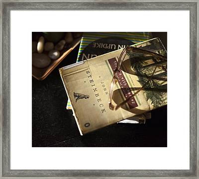 Enlightened Reading Framed Print by Peter Chilelli