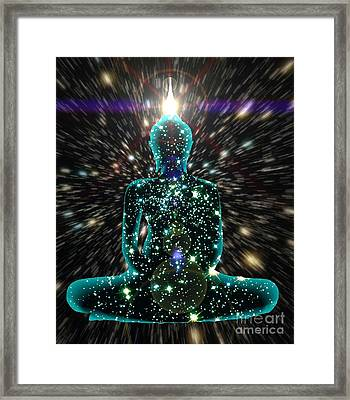 Enlightenment Space-time Consciousness Framed Print by Gregory Smith