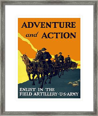 Enlist In The Field Artillery Framed Print by War Is Hell Store