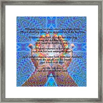 Enoch 42 Framed Print