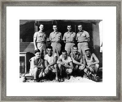 Enola Gay Crew, 1945 Framed Print by Science Source