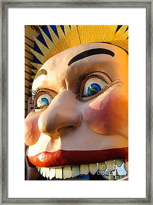 Enormous Smiling Face Framed Print