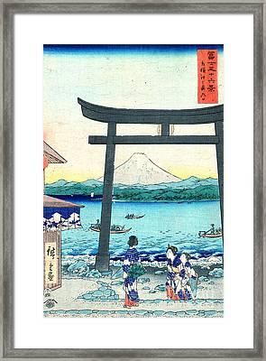 Enoshima Gateway Sagami 1858 Framed Print