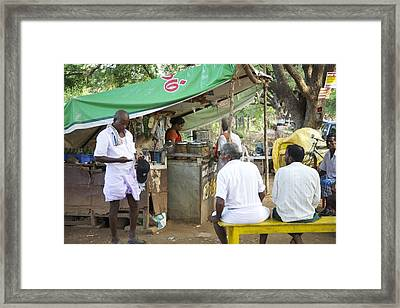 Enough Change For One More Chai Framed Print by Lee Stickels