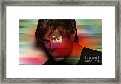 Enrique Iglesias Framed Print by Marvin Blaine