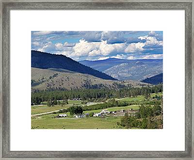 Enroute To Okanagan Valley Framed Print by Janet Ashworth