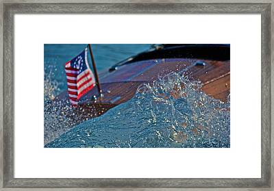 Ensign And Wake Framed Print by Steven Lapkin