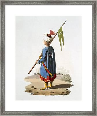 Ensign Bearer Of The Spahis, 1818 Framed Print