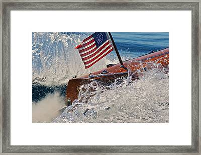 Ensign Wake Framed Print