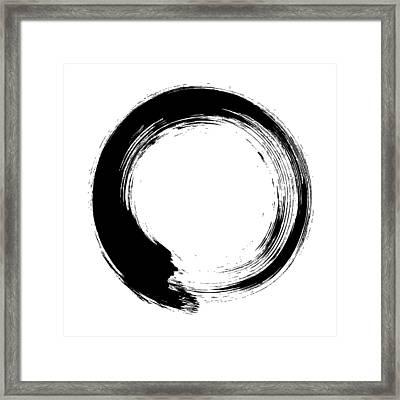 Enso – Circular Brush Stroke Japanese Framed Print