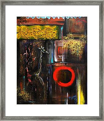Framed Print featuring the painting Enso Abstract by Patricia Lintner