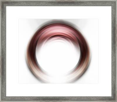 Enso Blush - Abstract Art By Sharon Cummings Framed Print