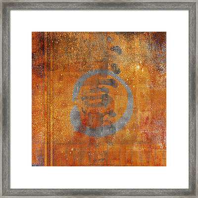 Enso Circle Framed Print by Carol Leigh
