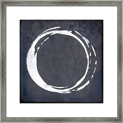 Enso No. 107 Blue Framed Print