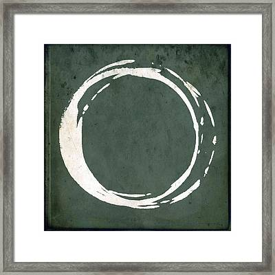 Enso No. 107 Green Framed Print