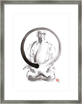 Enso. Zen Circle Martial Arts. Framed Print