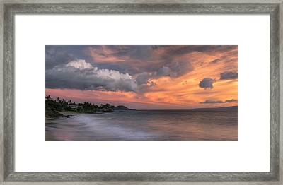Framed Print featuring the photograph Ensuing Light by Hawaii  Fine Art Photography