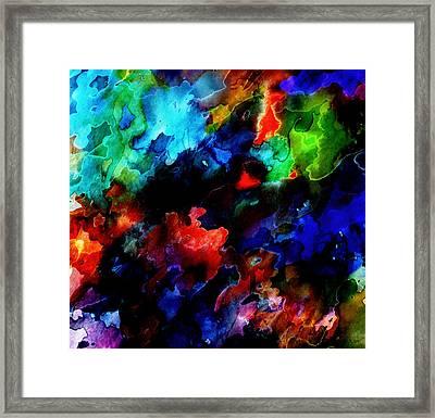 Entangled Colour Framed Print