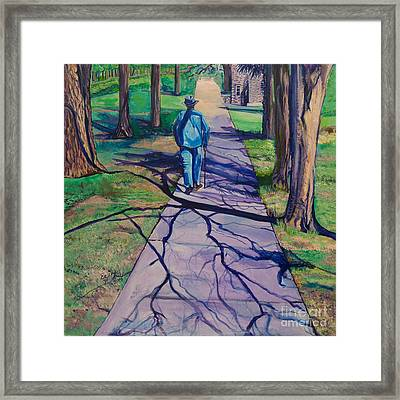 Framed Print featuring the painting Entanglement On Highway 98' by Ecinja Art Works