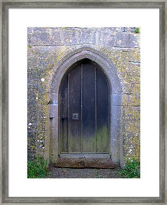 Framed Print featuring the photograph Enter At Your Own Risk by Suzanne Oesterling