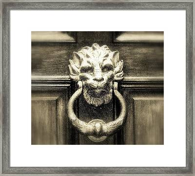 Enter Framed Print by Bruce Carpenter