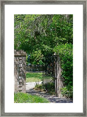 enter Eden Framed Print