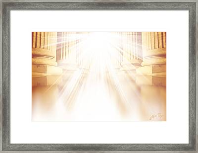 Enter Into His Courts Framed Print