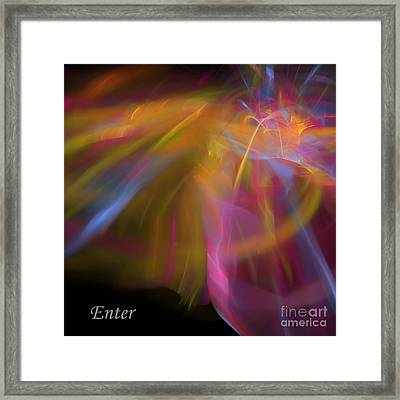 Framed Print featuring the digital art Enter by Margie Chapman