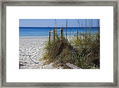Enter The Beach Framed Print