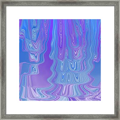 Enter The Flow Abstract Art In Purple And Blue Framed Print by Adri Turner